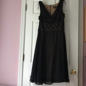 Dress Barn Collection sheer black & nude, size XL.